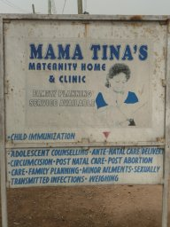Poster of Mama Tina's Health Clinic, a private clinic within this study