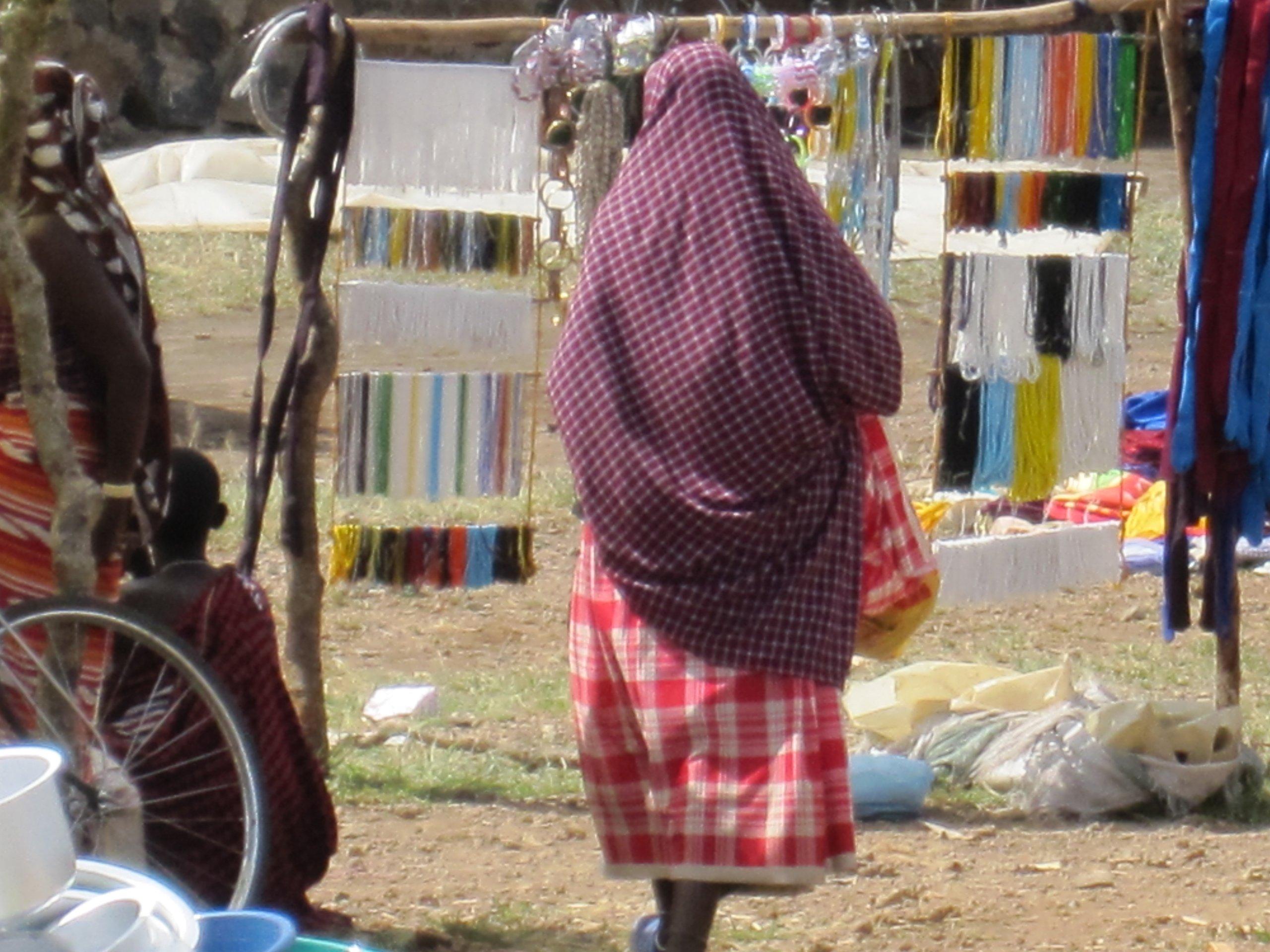 Woman at market, Moshi, Tanzania