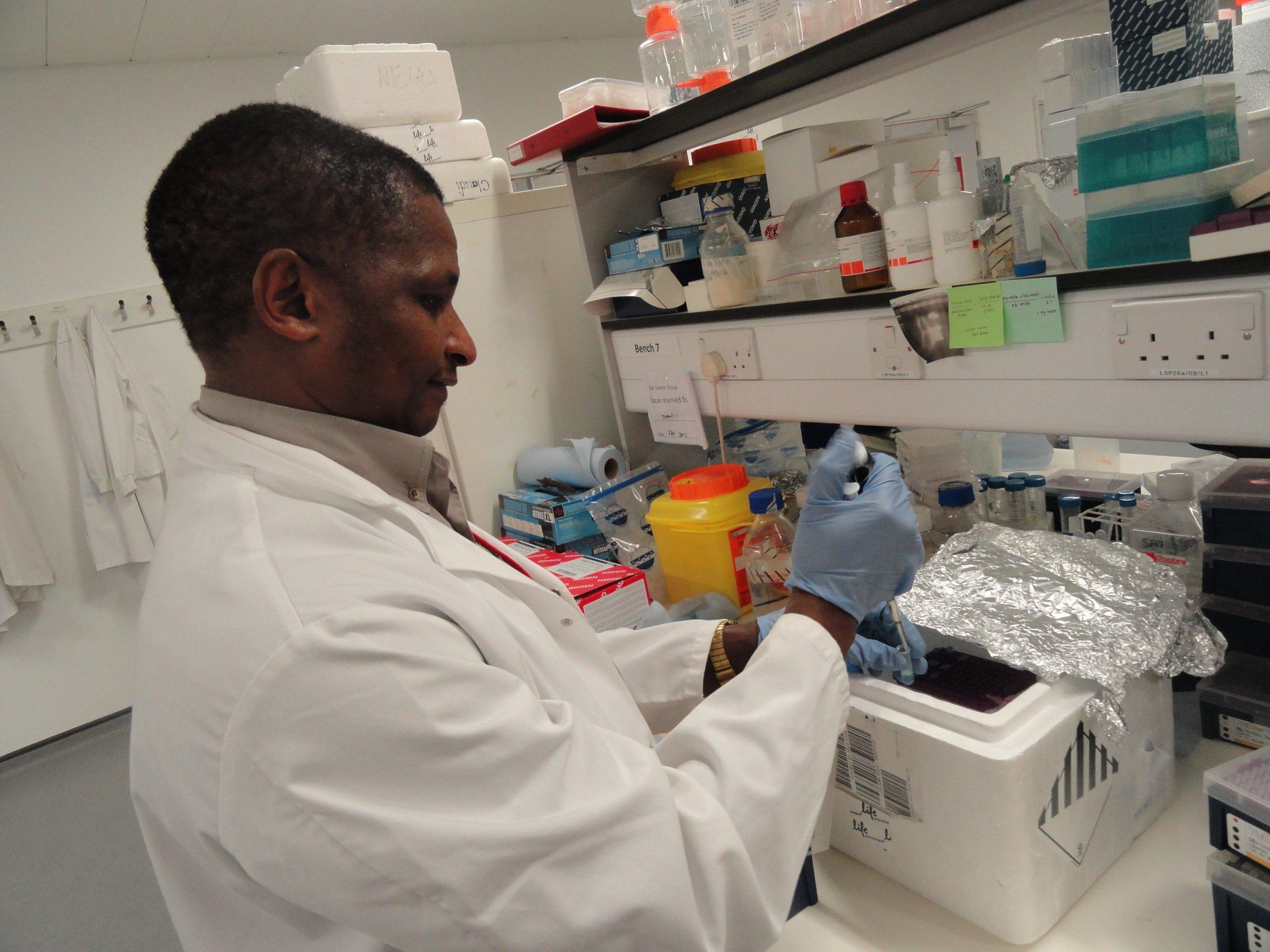 Johnson Matowo in the Lab