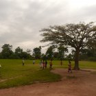 Children playing in school grounds, Mulanda Primary School, Tororo District