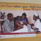 Public health poster for malaria at clinic