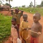 Children in the village, Jinja District