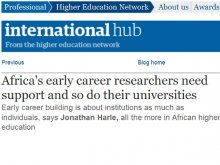 Africa's early career researchers need support and so do their universities article