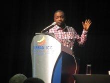 Dr Badara Samb presenting his research at MIM 2013, Durban