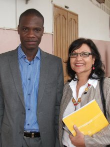 Drs Magatte Ndiaye and Hazel McCullough