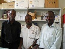 Magatte Ndiaye, Badara Samb and Roger Tine