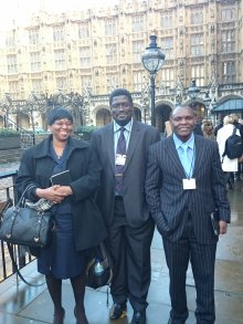 Dr Evelyn Ansah, Dr. Sanie Sesay and Dr Wilson Mandala