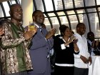 Harry Tagbor (far left) with Gates Malaria Partnership colleagues